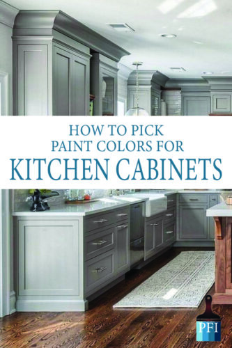 Repainting your kitchen? Learn how to pick the best color for your kitchen makeover!