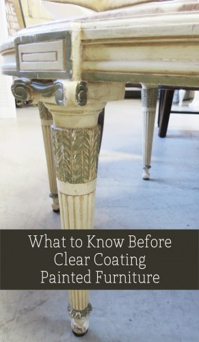 Wax And Polycrylic Are The Most Popular Clear Coat Options For Water Based  Furniture Paint.