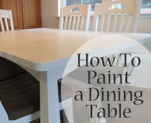what kind of paint to use on dining room table | Best Types of Paint for Kitchen Tables - Painted Furniture ...