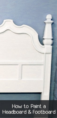 Painted Headboard Ideas how to paint a headboard & footboard - painted furniture ideas