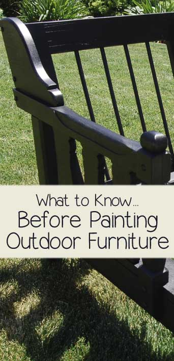 what to know before painting outdoor furniture painted. Black Bedroom Furniture Sets. Home Design Ideas