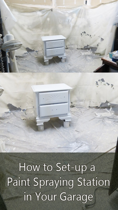 how to set up a spray paint station in your garage painted furniture. Black Bedroom Furniture Sets. Home Design Ideas