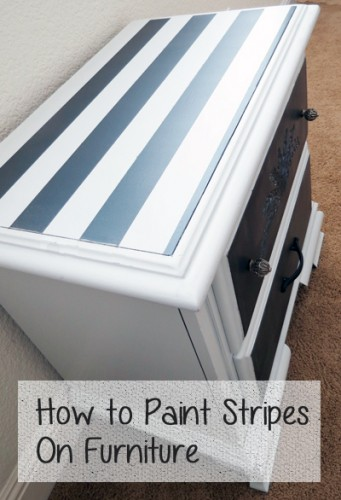 Attractive Hereu0027s A Quick Tutorial On One Way To Paint Stripes Onto The Top Of Your  Furniture Piece. Stripes5