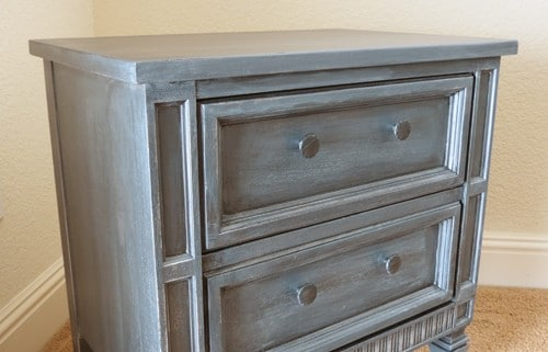 Faux Zinc Finish Nightstand Makeover Page 5 Of 5 Painted Furniture Ideas