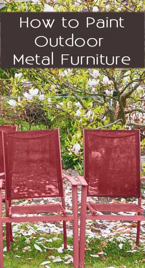 Like This Article? Pin It! Paint Metal Outdoor Furniture