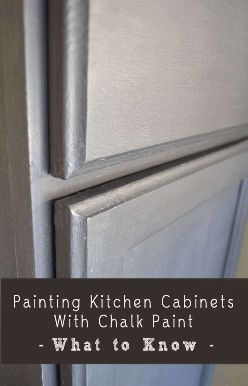 Painting with Chalk Paint Kitchen Cabinets
