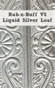 Painted Furniture Ideas Rub N Buff Vs Liquid Silver Leaf