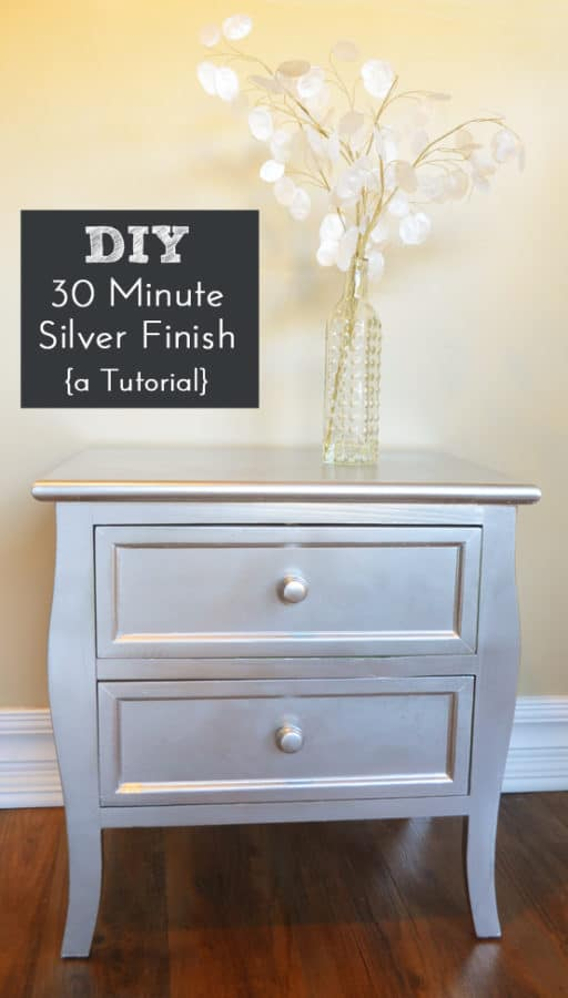 Silver Spray Paint Crafts