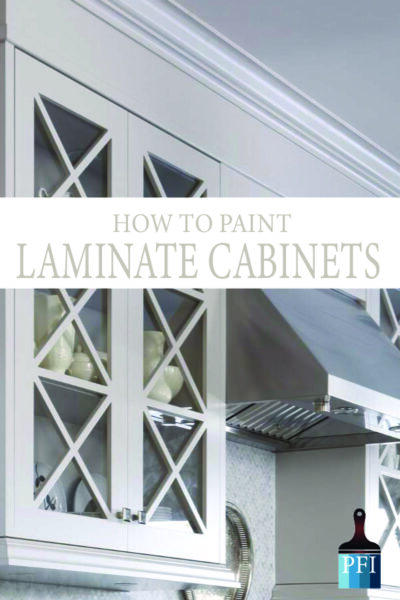 DIY Painted Laminate cabinets! Learn all the tips, tricks and ideas to improve your kitchen.