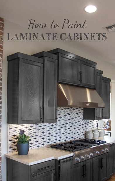 Painting laminate cabinets painted furniture ideas for Before and after pictures of painted laminate kitchen cabinets