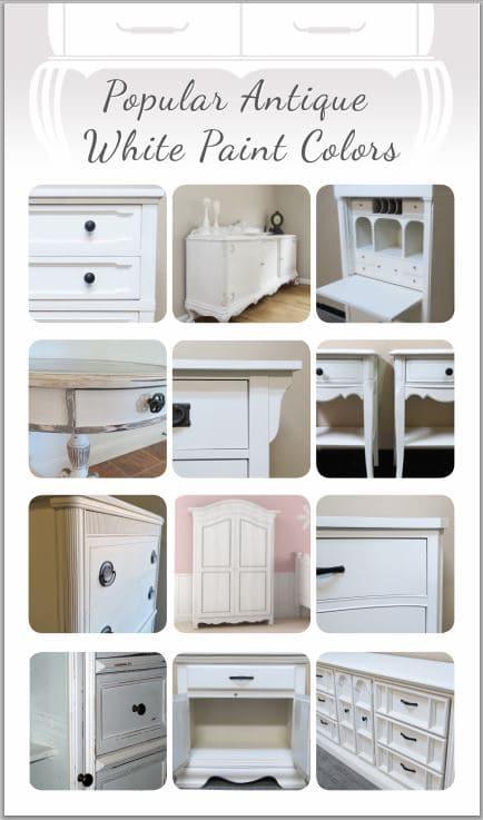 Por Antique White Paint Colors For Furniture