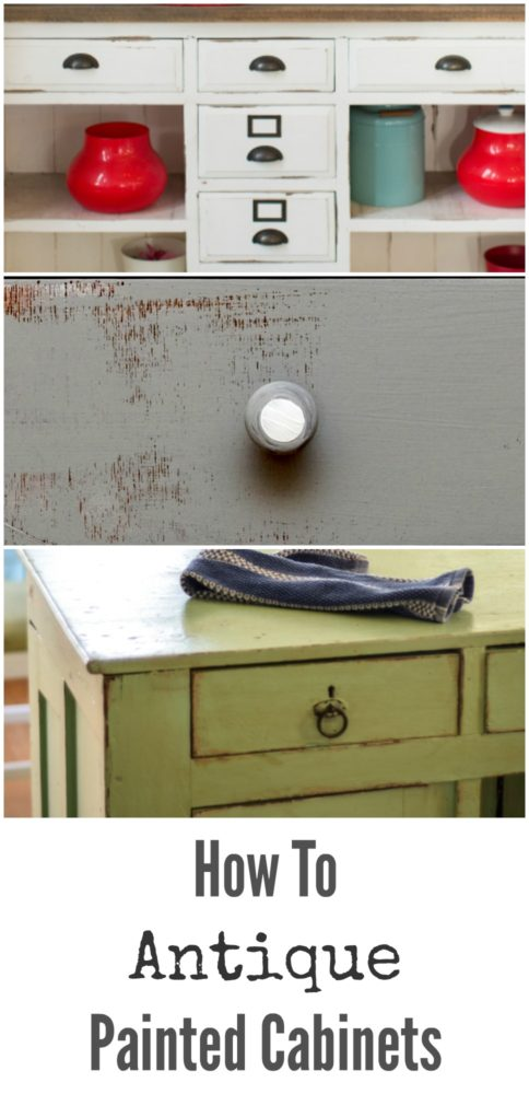 How to Antique Painted Cabinets - How To Antique Painted Cabinets - Painted Furniture Ideas