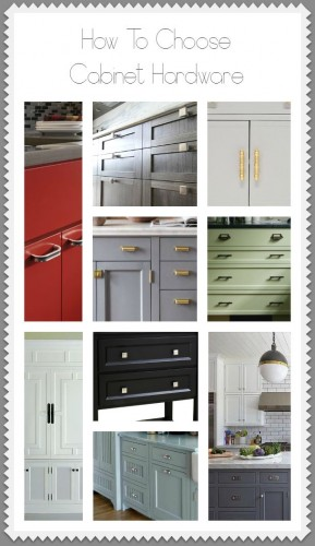 Choosing hardware for your kitchen cabinet makeover for Choosing hardware for kitchen cabinets