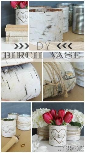 DIY Birch Vase Centerpiece