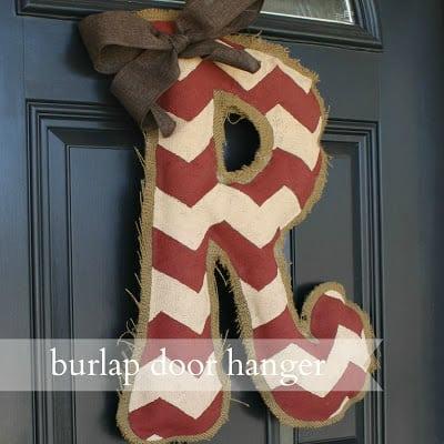 DIY Burlap Door Hanger