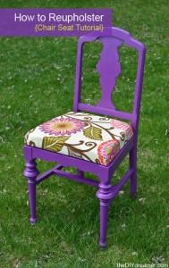 DIY Chair Reuphoster Tutorial