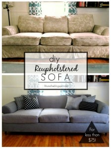 DIY Couch Reupholstery Tutorial