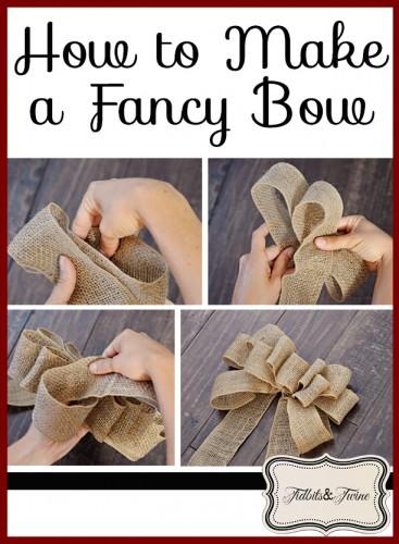 DIY Fancy Burlap Bow