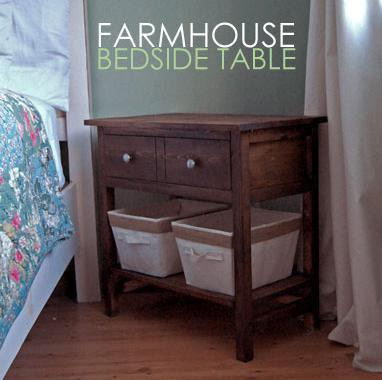 DIY Farmhouse Bedside Table