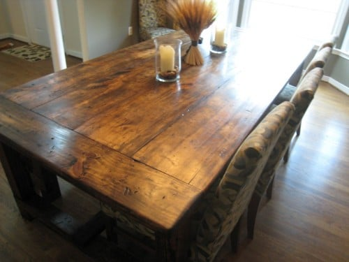DIY Farmhouse Table with Blueprints