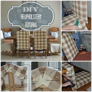DIY Reupholstery Chair Tutorial