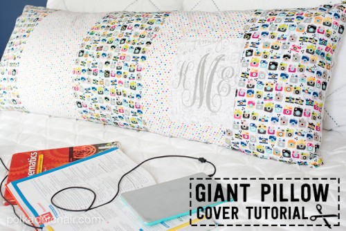 Giant Pillow Cover Tutorial