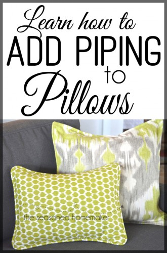 How to Add Piping to your Pillow