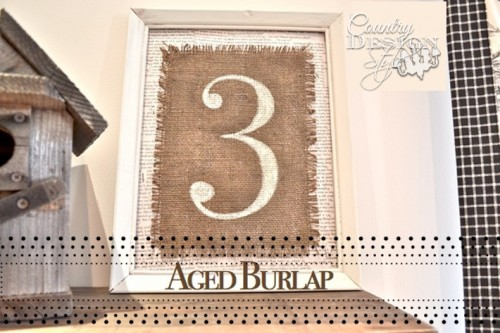 How to Age Burlap