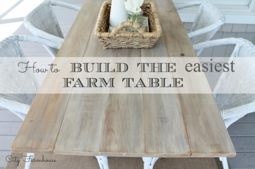 How to Build the Easiest Farmhouse Table