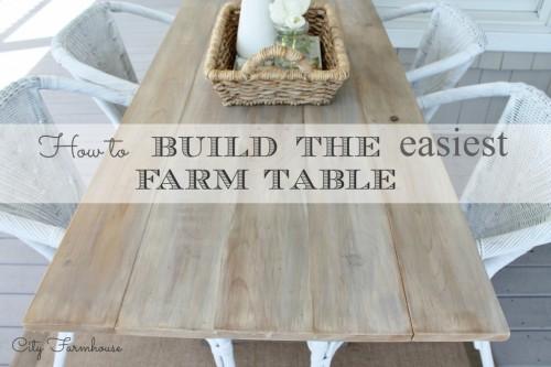 How to Build the Easiest Farmhouse Table