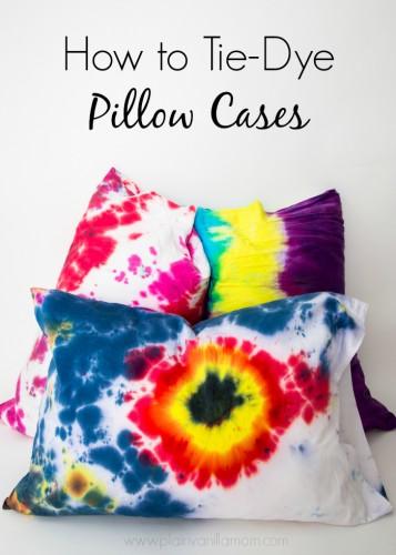 How to Tie Dye Pillowcases