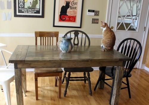 Small DIY Farmhouse Table