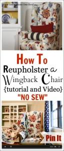 Wingback Chair Reupholstry Tutorial