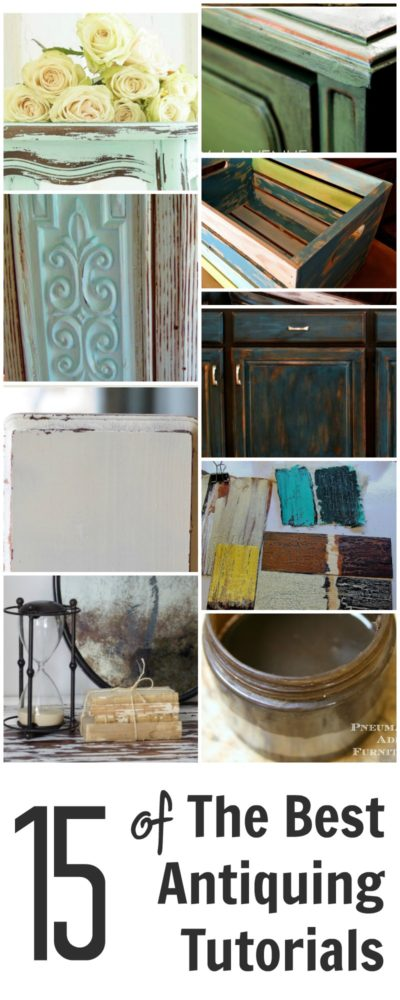 Give your furniture an antiqued or distressed look ladulcelavie - Antiquing Furniture Tutorials How To Get An Antiqued Finish With Spray Paint Painted Furniture