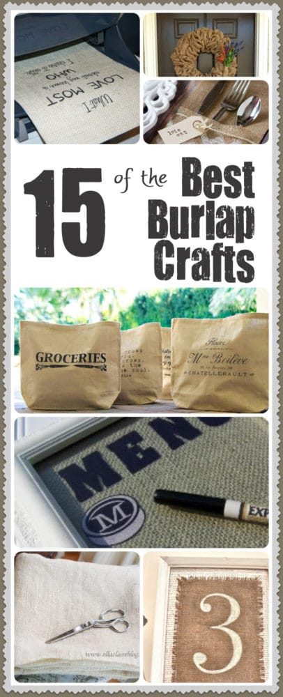 15 DIY Burlap Craft Project Ideas