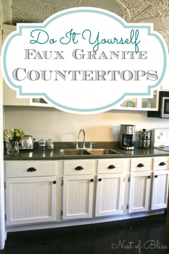 Faux Granite Countertops DIY