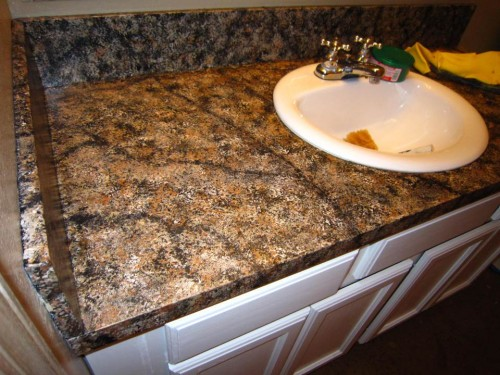 Granite Painted Counter