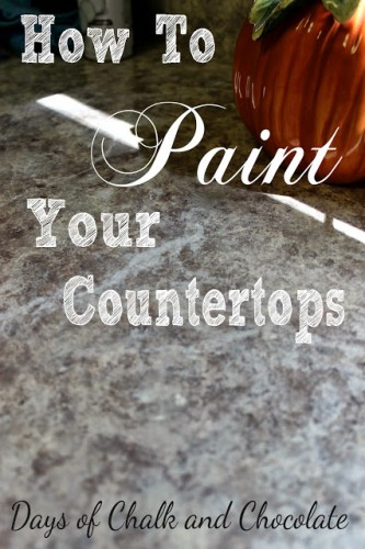 How to Paint your Counters