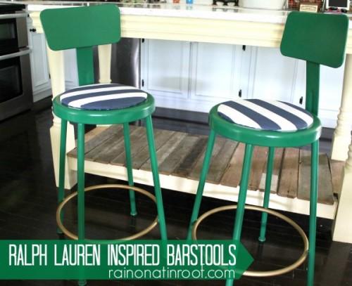 Ralph Lauren Inspired Barstool DIY