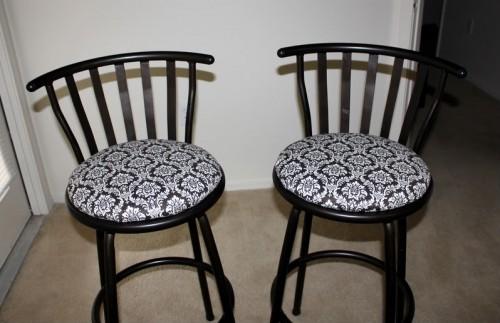 Reupholstered Barstools