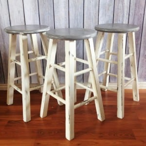 bar stool makeover tutorials painted furniture ideas rustoleum cabinet transformations kitchen table Kitchen Transformation Dark Wood Floors