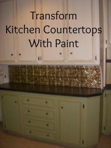 Transform Kitchen Countertops with Paint