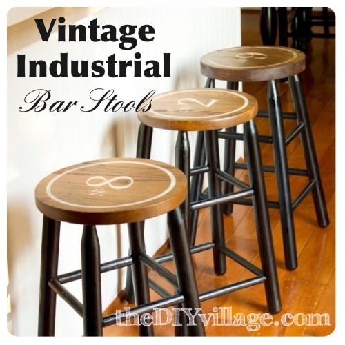 Vintage Barstool Makeover