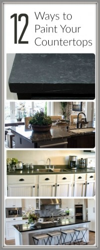 Countertop Paint Ideas : 12 Ways to Paint Your Counter tops - Painted Furniture Ideas