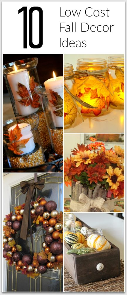 10 cheap fall decor ideas painted furniture ideas for Autumn party decoration ideas