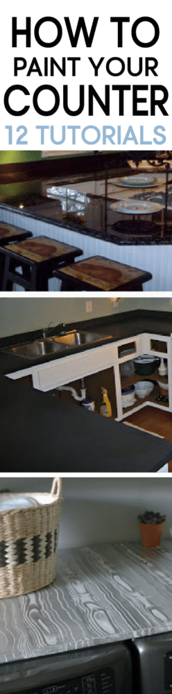 12 Tutorials teaching different styles of painting your kitchen counter!