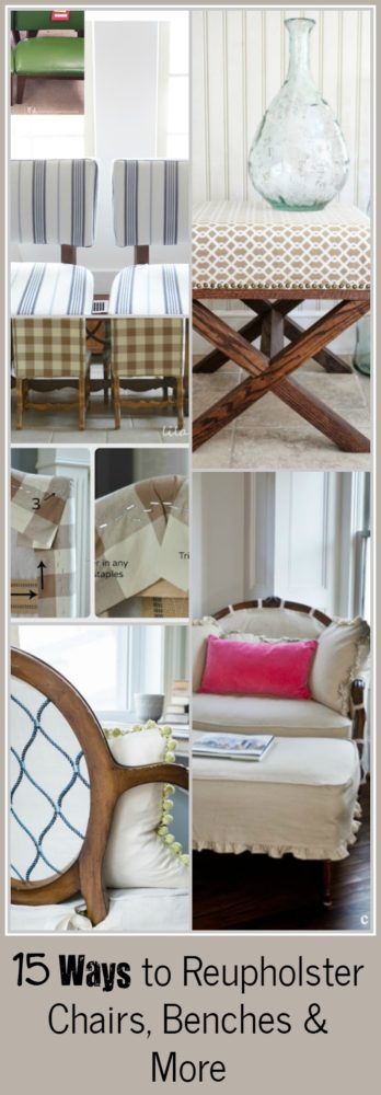 Ways to Reupholster Chairs, Benches and More