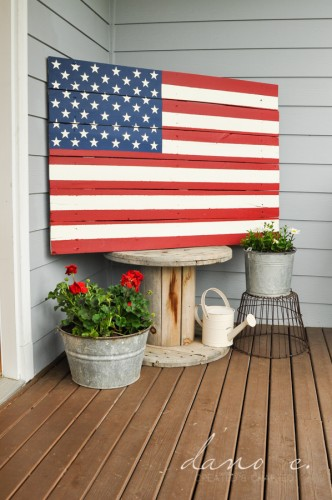 DIY Pottery Barn American Flag