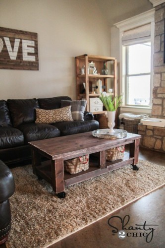 DIY Pottery Barn Coffee Table