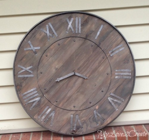 DIY Pottery Barn Rustic Clock